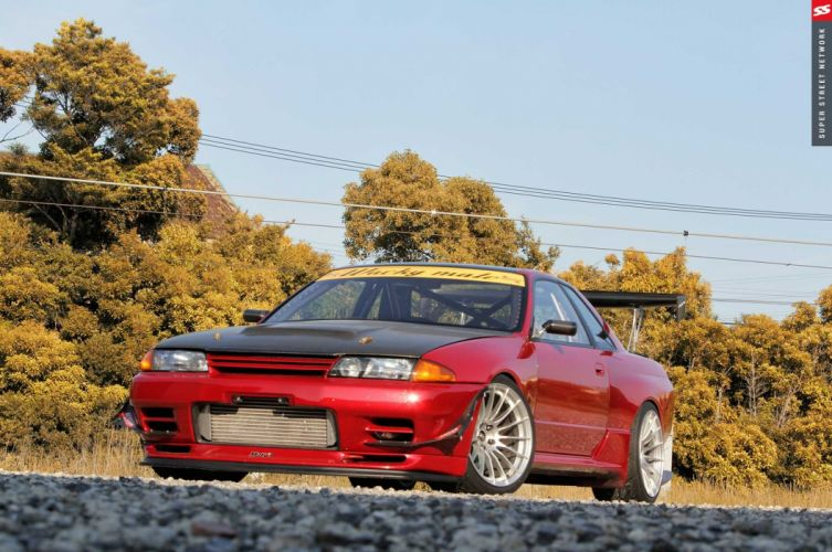 nissan skyline r32 cars coupe modified wallpaper