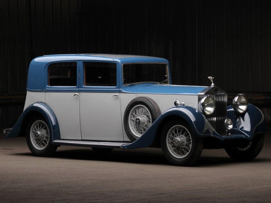 Rolls-Royce 20-25-HP Saloon Barker classic cars 1935 wallpaper