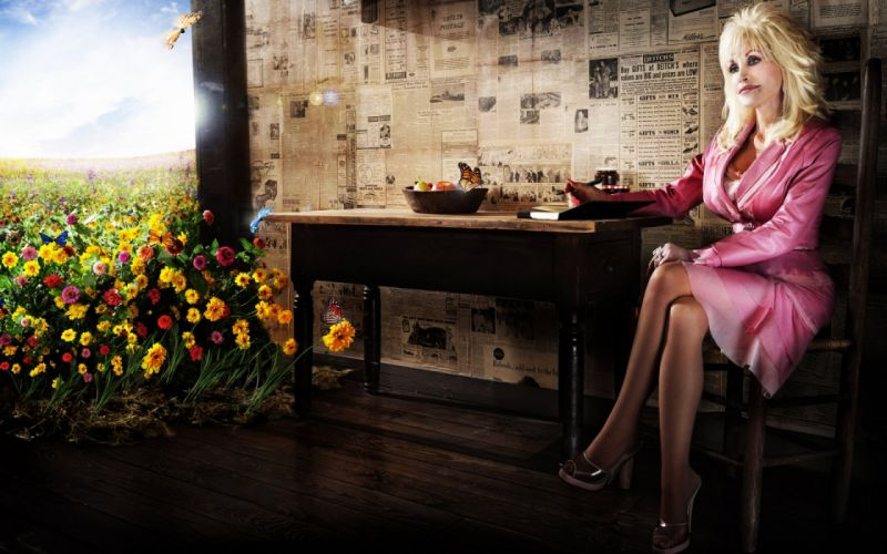 Photography dolly parton flowers table chair girl wallpaper