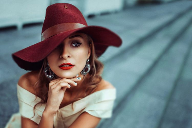 Photography face hat girl model style wallpaper