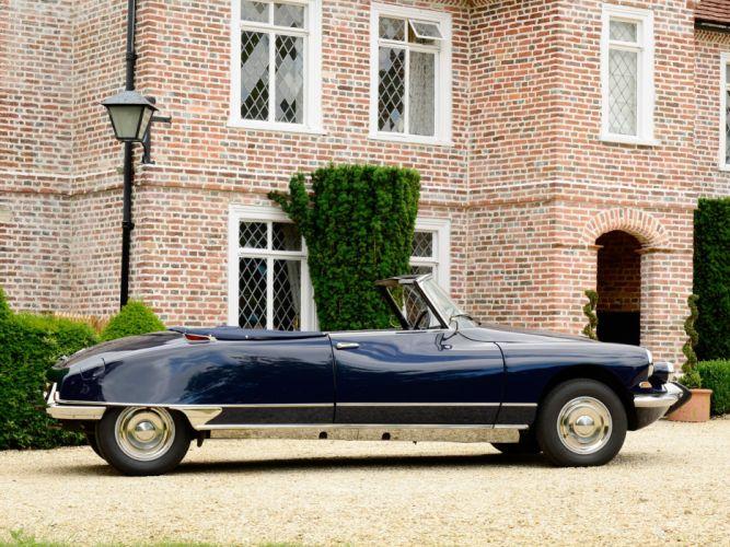 1962 cars Citroen classic convertible UK-spec ds-19 wallpaper