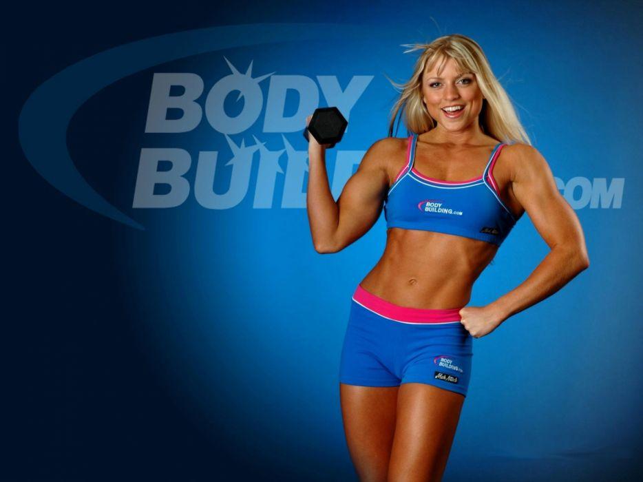 Sports Erin Ellington athlete bodybuilding dumbbells fitness wallpaper