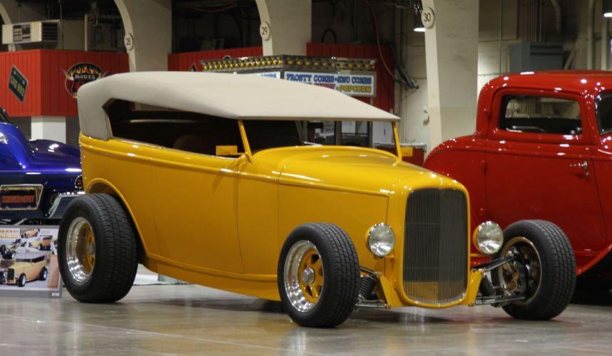 1932 Ford High Boy Deuce Tudor Phaeton Hightboy Hotrod Hot Rod USA -03 wallpaper