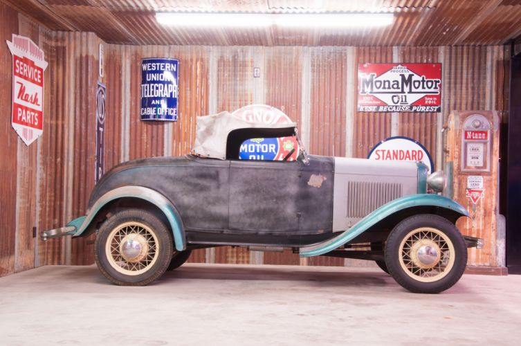 1932 Ford Roadster Classic Old Vintage Retro Unrestored USA -03 wallpaper