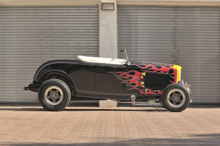1932 Ford Roadster Hightboy Hotrod Hot Rod Vintage USA -03 wallpaper