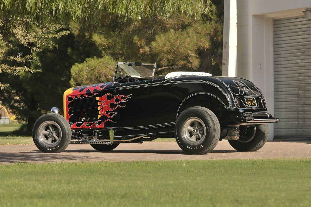 1932 Ford Roadster Hightboy Hotrod Hot Rod Vintage USA -04 wallpaper