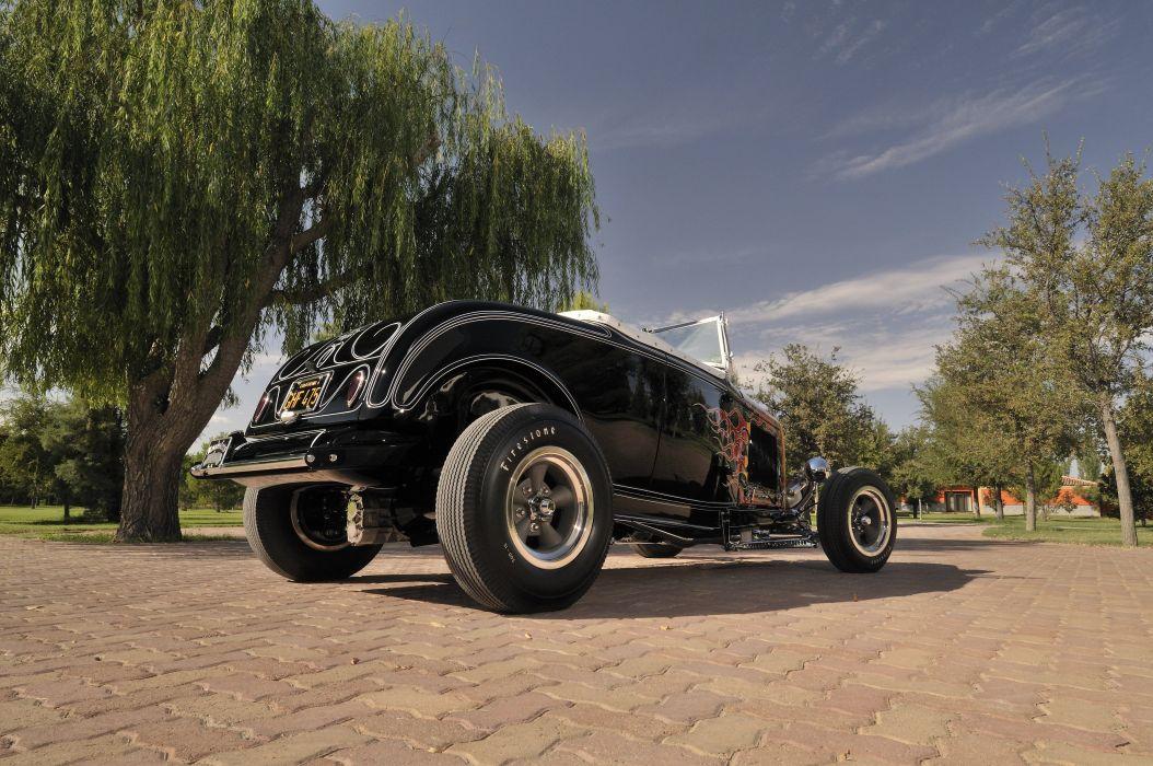1932 Ford Roadster Hightboy Hotrod Hot Rod Vintage USA -07 wallpaper