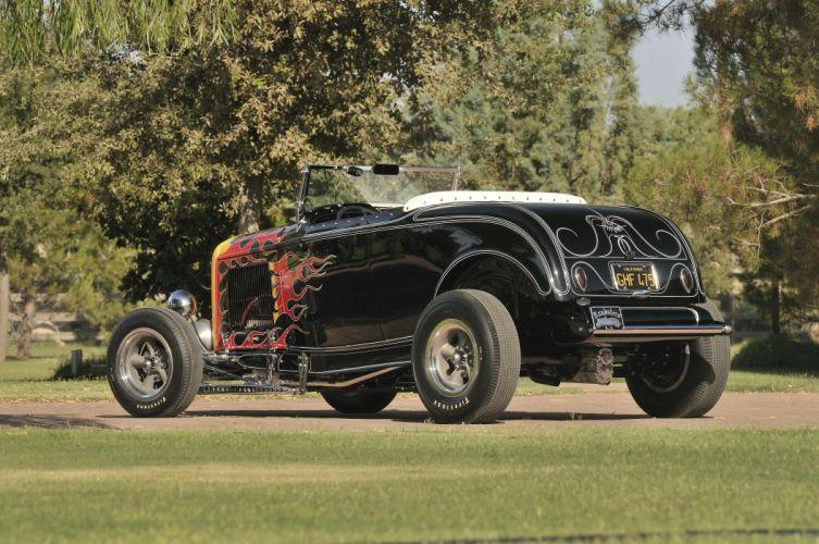 1932 Ford Roadster Hightboy Hotrod Hot Rod Vintage USA -09 wallpaper