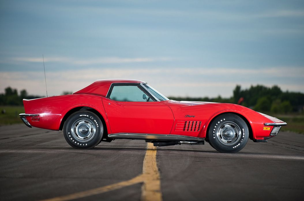 1971 Chevrolet Chevy Corvette Muscle 454 LT1 Stingray Classic USA -03 wallpaper