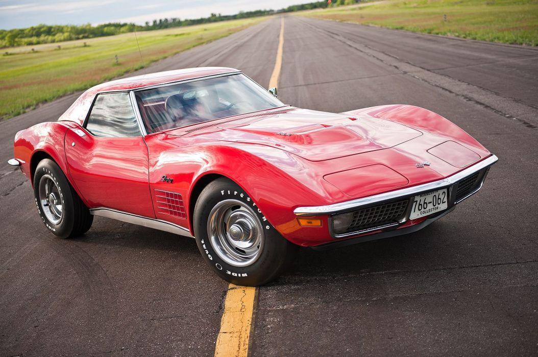 1971 Chevrolet Chevy Corvette Muscle 454 LT1 Stingray Classic USA -05 wallpaper