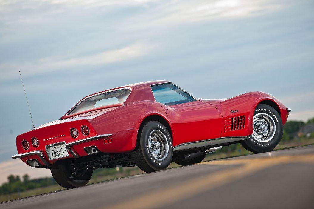 1971 Chevrolet Chevy Corvette Muscle 454 LT1 Stingray Classic USA -09 wallpaper