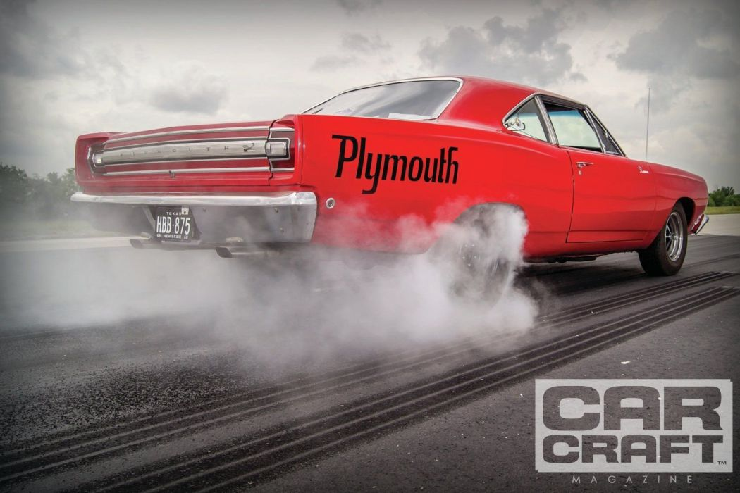 1968 Plymouth Road Runner Muscle Classic Old Burnout USA -01 wallpaper