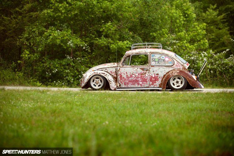 1963 Volksvagen VW Rat Hot Low USA Beetle-3 wallpaper