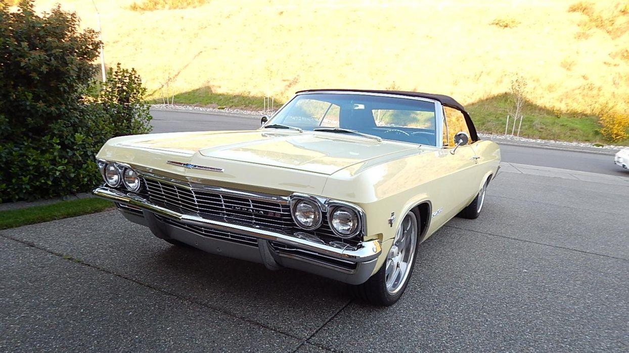 1965 Chevrolet Impala SS Convertible Street Rod Cruiser USA -01 wallpaper