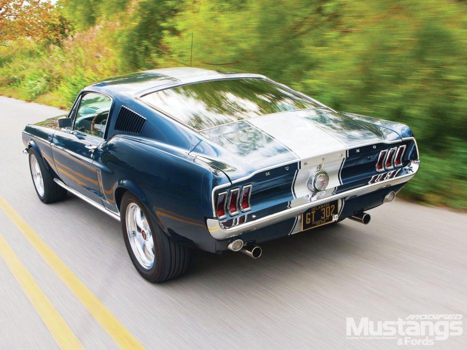 1968 Ford Mustang Fastback Hotrod Streetrod Hot Rod Street USA 1600x1200-03 wallpaper