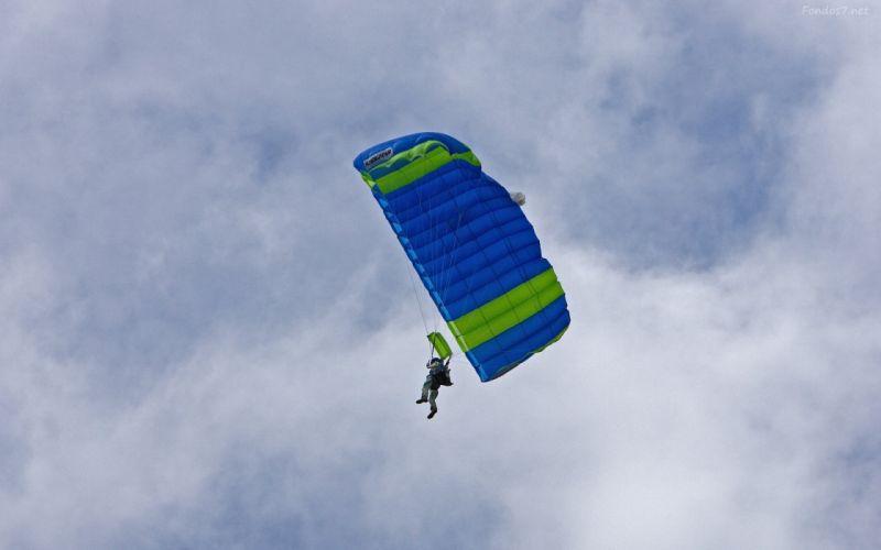 paracaidas vulo aire wallpaper