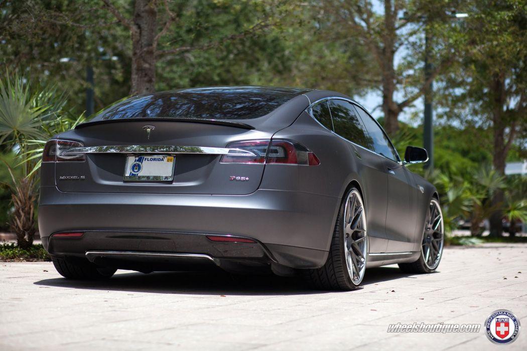 electric Tesla Model-S P85+ HRE wheels cars wallpaper