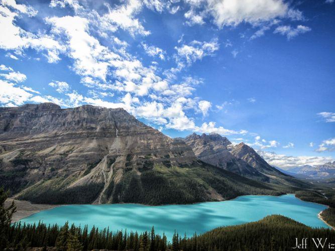 Clear Sky & Mountain wallpaper