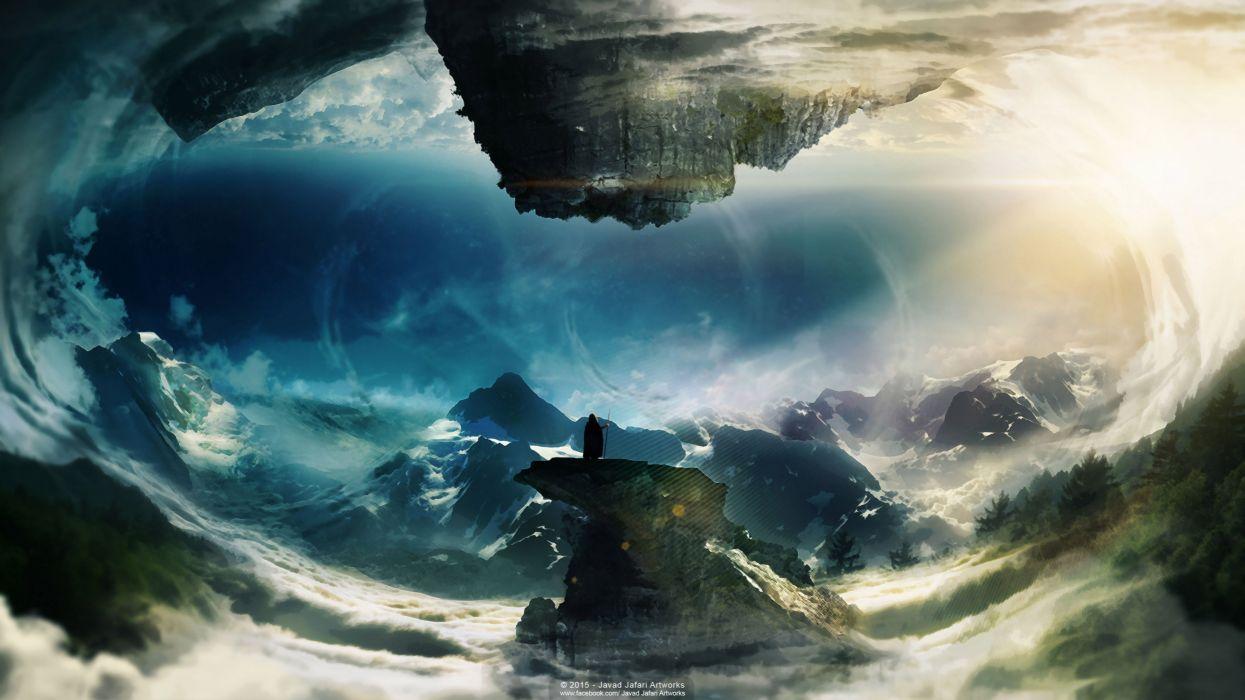 the world upside down (by Javad Jafari Artworks) wallpaper