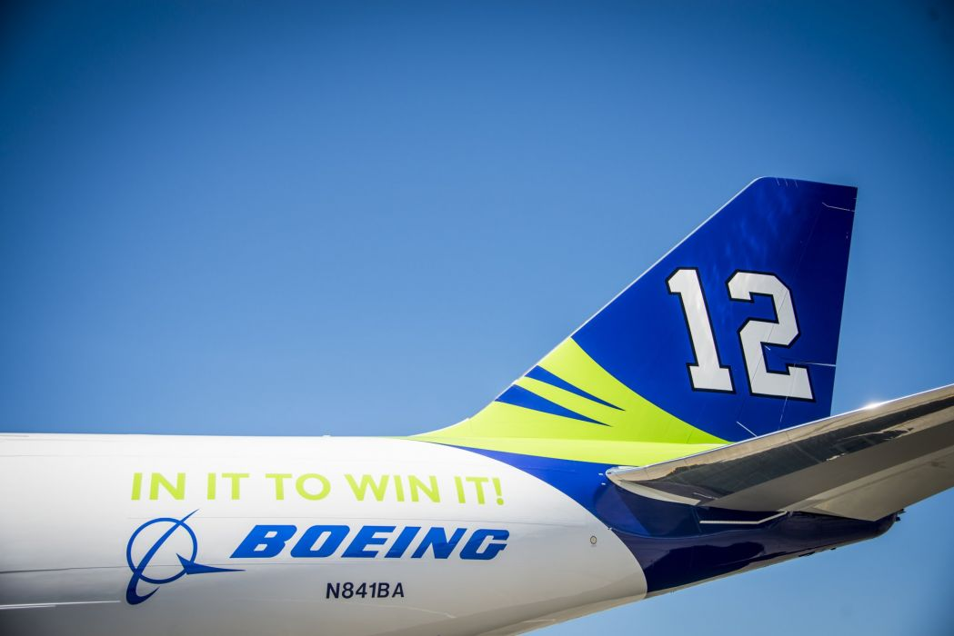 SEATTLE SEAHAWKS nfl football aircraft airplane airliner boeing wallpaper