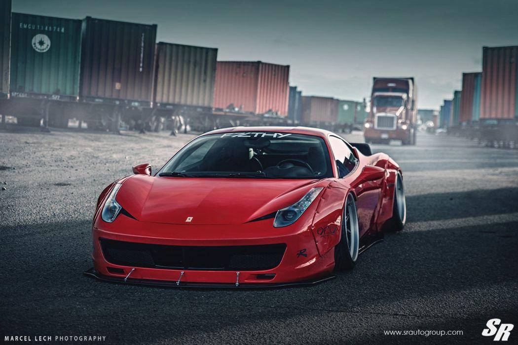 Sr Auto Group Ferrari 458 Italia Liberty Walk Wildebody Cars Modified Wallpaper 1460x973 768698 Wallpaperup