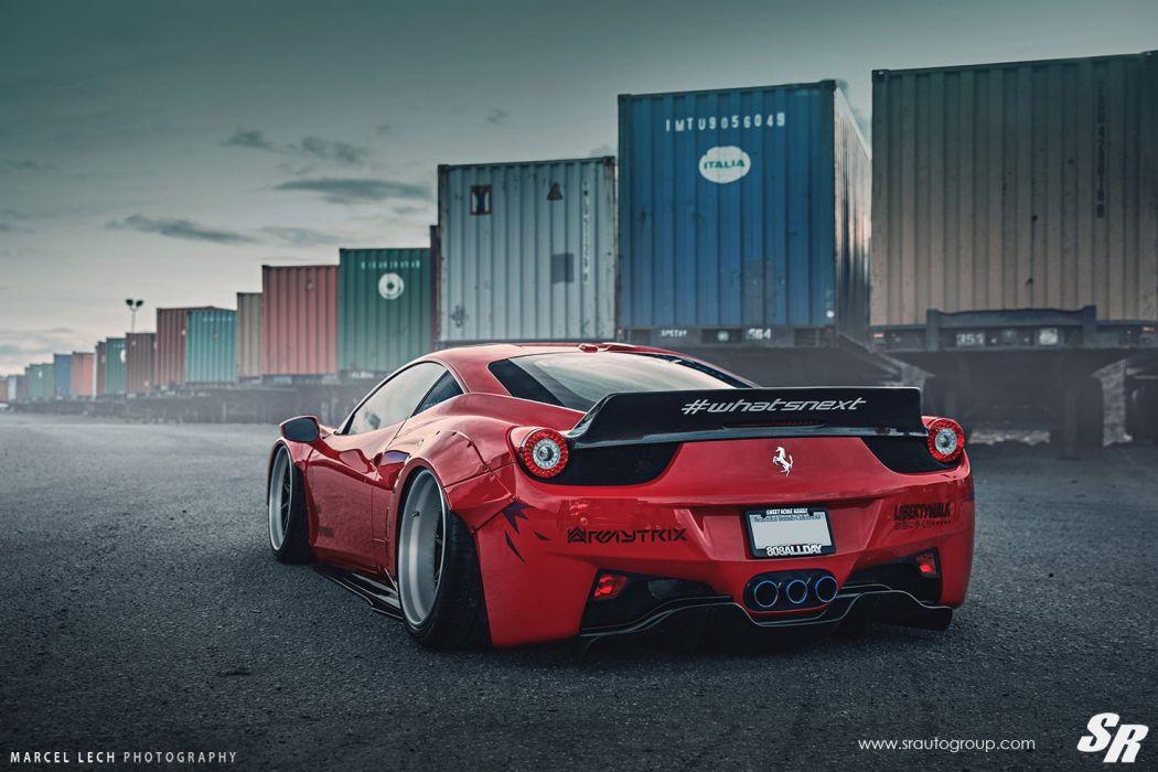 Sr Auto Group Ferrari 458 Italia Liberty Walk Wildebody Cars Modified Wallpaper 1460x973 768699 Wallpaperup