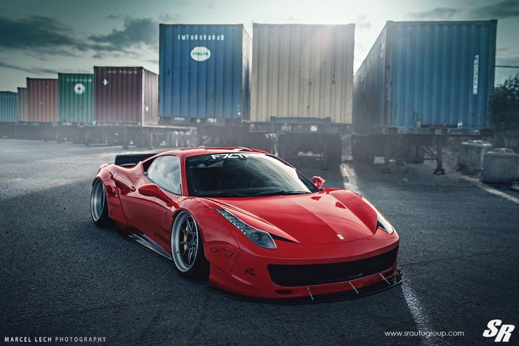 Sr Auto Group Ferrari 458 Italia Liberty Walk Wildebody Cars Modified Wallpaper 1460x973 768700 Wallpaperup