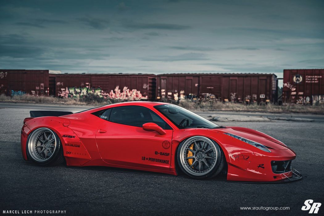 SR-AUTO GROUP Ferrari 458 Italia Liberty Walk wildebody cars modified wallpaper