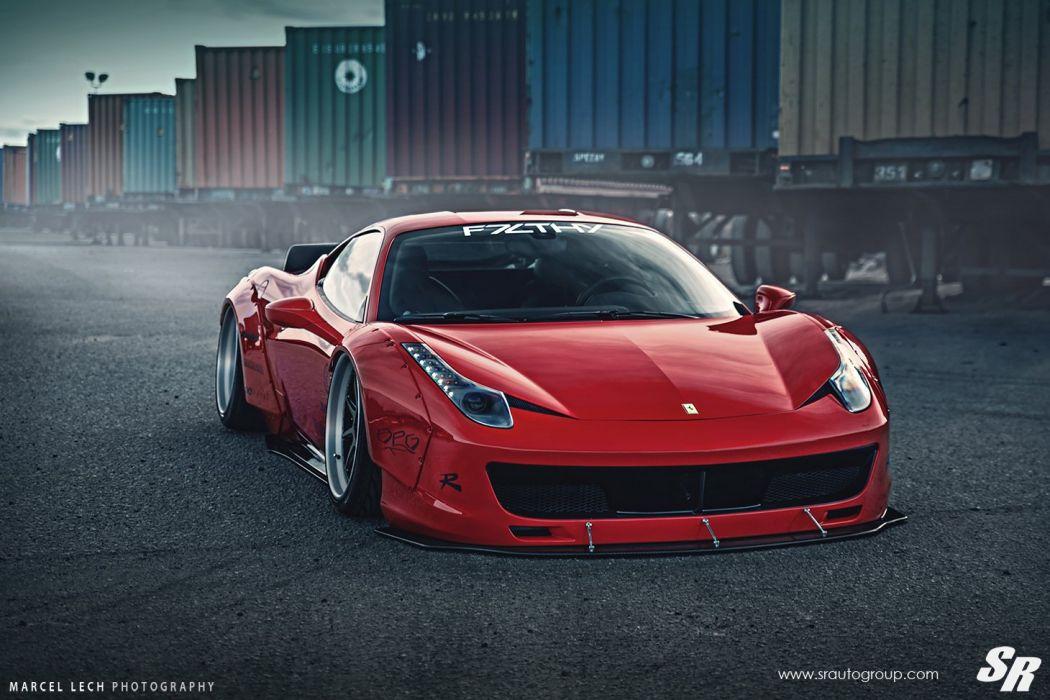 Sr Auto Group Ferrari 458 Italia Liberty Walk Wildebody Cars Modified Wallpaper 1460x973 768702 Wallpaperup