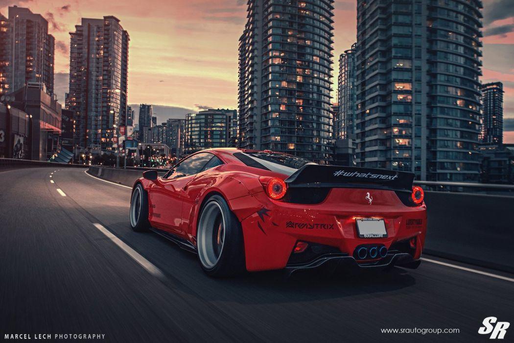 Sr Auto Group Ferrari 458 Italia Liberty Walk Wildebody Cars Modified Wallpaper 1460x973 768707 Wallpaperup