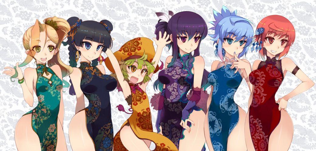 breasts chinese clothes chinese dress kusanagi tonbo wallpaper