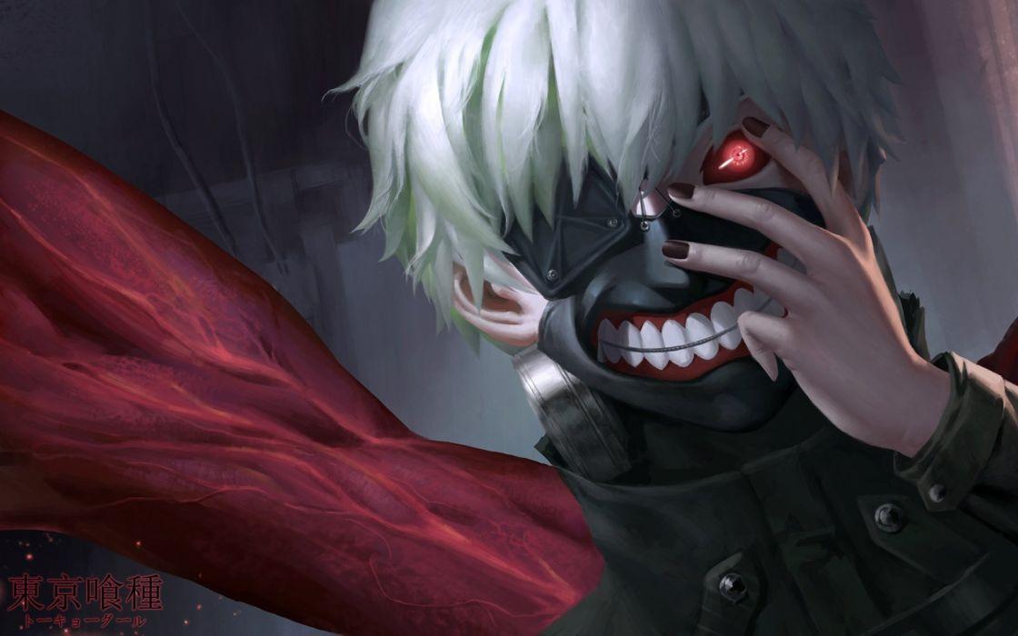 cangkong kaneki ken red eyes tagme tokyo ghoul white hair wallpaper
