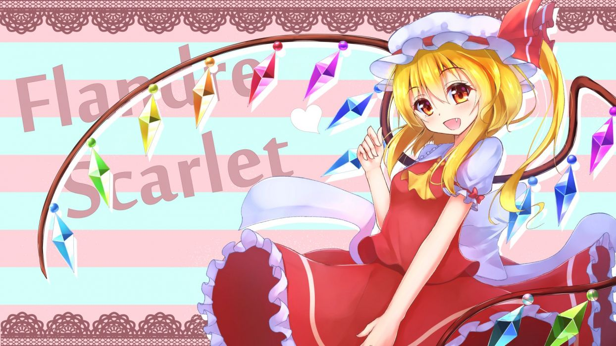 Touhou Flandre Scarlet Frilled Collar Frill Sleeves Red Skirt wallpaper