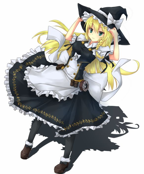 Touhou Kirisame Marisa Brown Footwear wallpaper