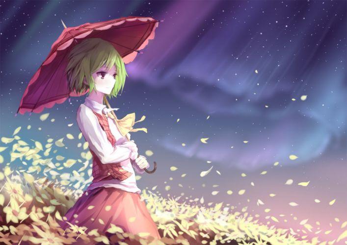 kazami yuuka touhou umbrella ziran juan wallpaper