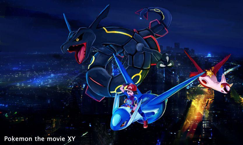 Pokemon Rayquaza Pikachu wallpaper