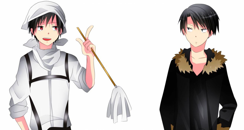 Shingeki no Kyojin DURARARA!! Levi Orihara Izaya Outfit Switch wallpaper