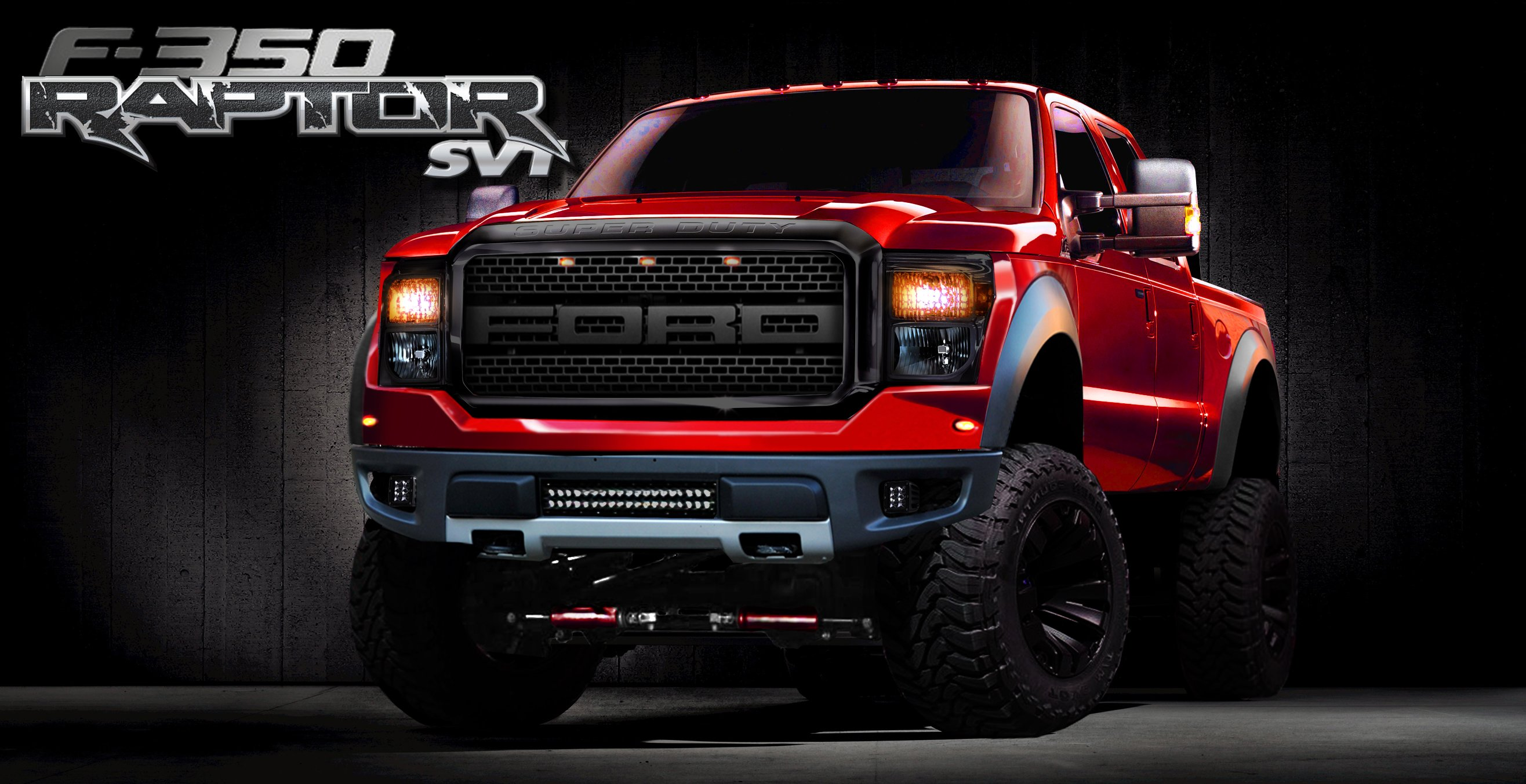 ford f 350 raptor red heavy pick up wallpaper wallpaper 2632x1353 769446 wallpaperup. Black Bedroom Furniture Sets. Home Design Ideas