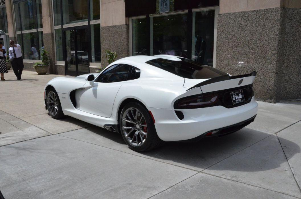 2014 Dodge SRT Viper coupe cars white wallpaper