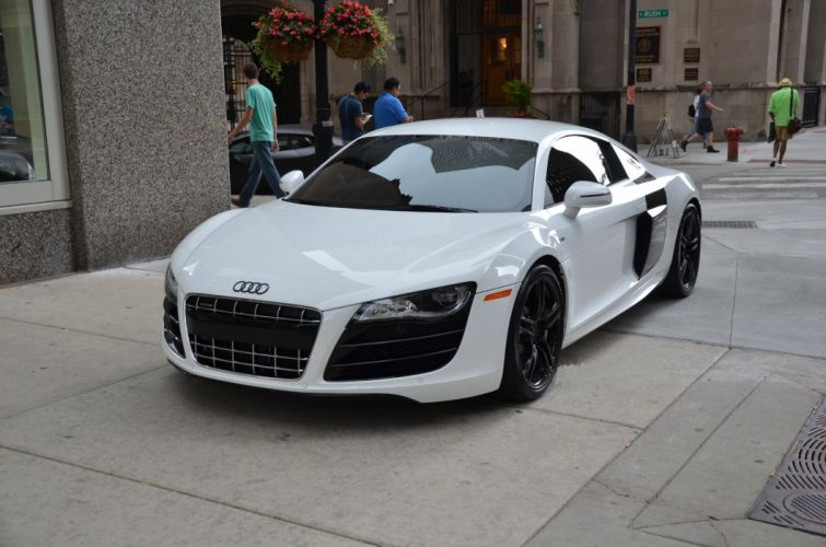 2012 Audi-R8 coupe cars white wallpaper