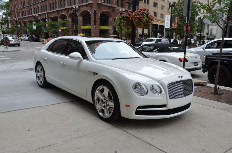2015 Bentley Flying Spur-V8 cars sedan white wallpaper