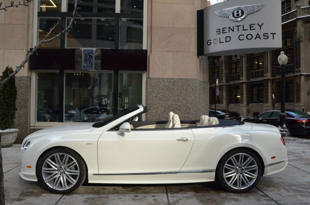 2015 Bentley Continental GTC speed cars white wallpaper