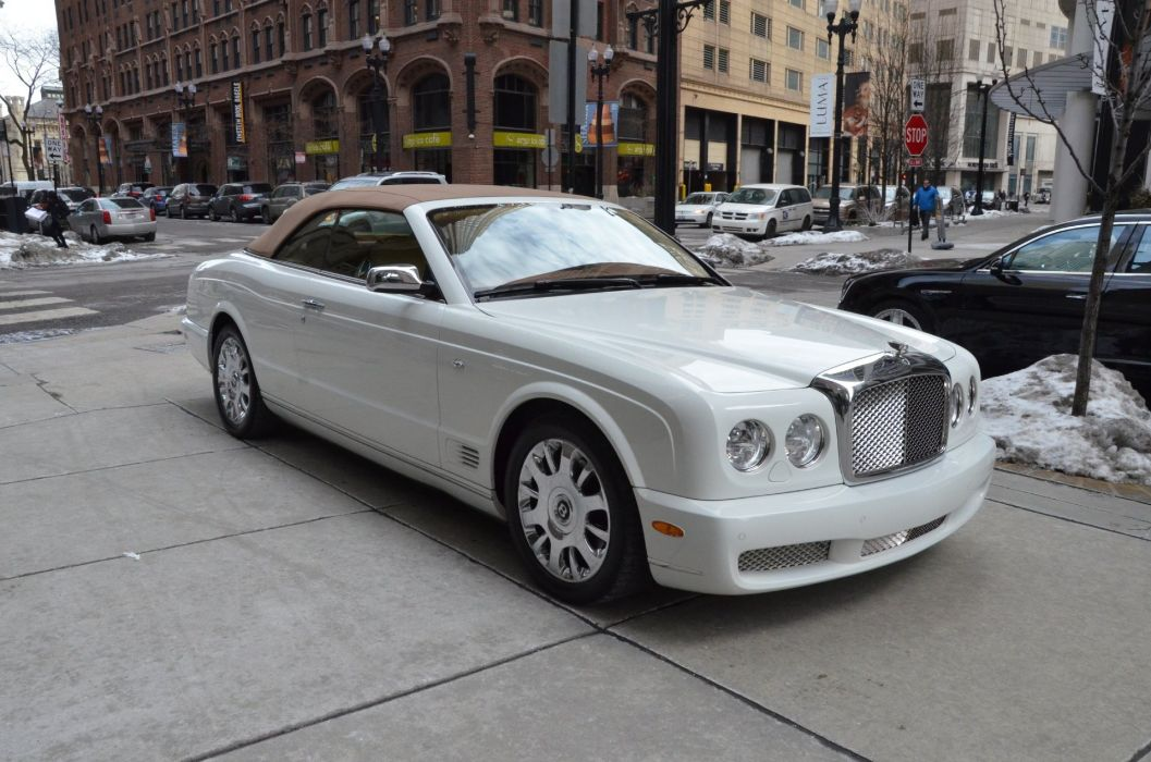 2008 Bentley Azure convertible cars white wallpaper