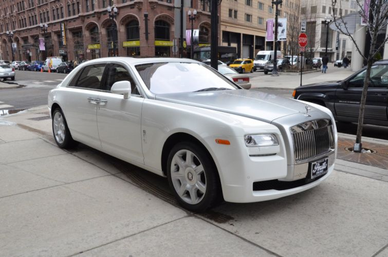 2012 Rolls-Royce Ghost EXTENDED WHEELBASE cars white wallpaper