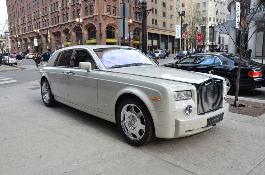 2008 Rolls-Royce Phantom cars white wallpaper