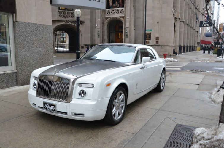 2009 Rolls-Royce Phantom COUPE cars white wallpaper