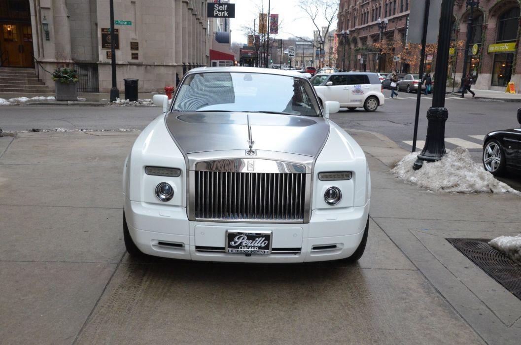2009 Rolls-Royce Phantom COUPE cars white wallpaper
