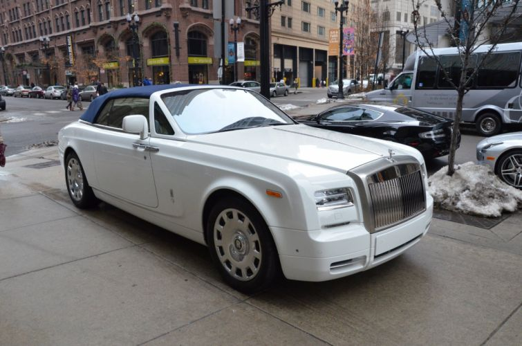 2013 Rolls-Royce Phantom Drophead Coupe cars white wallpaper