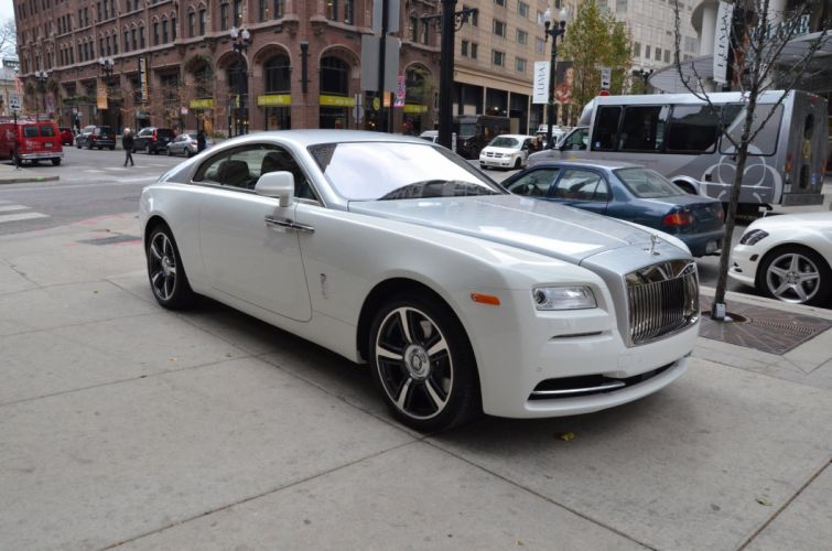 2015 Rolls-Royce Wraith coupe cars white wallpaper