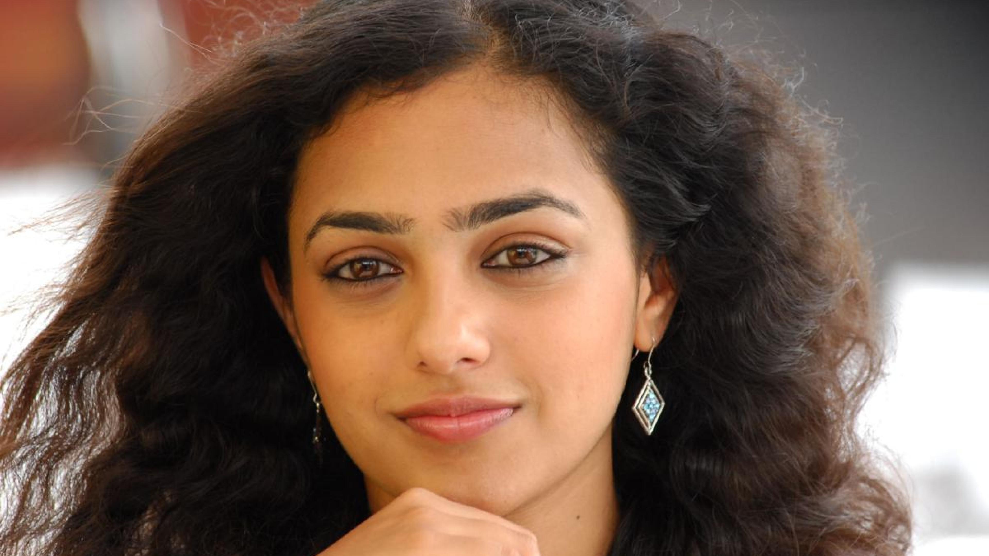 nithya menon black kannada face malayalam ultra 3840x2160 hd